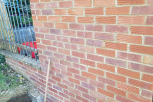 brick wall showing new pointing