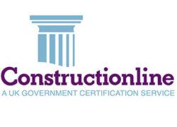 Construction Line Logo UK Government Certification Service